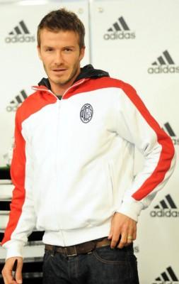 David Beckham Promoting New Adidas Shoe In Milan.  Photo: Flynetonline.com