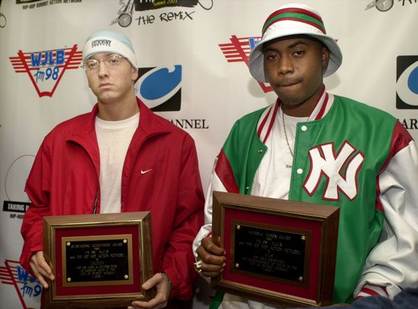 Eminem & Nas Circa 2003.  File Photo