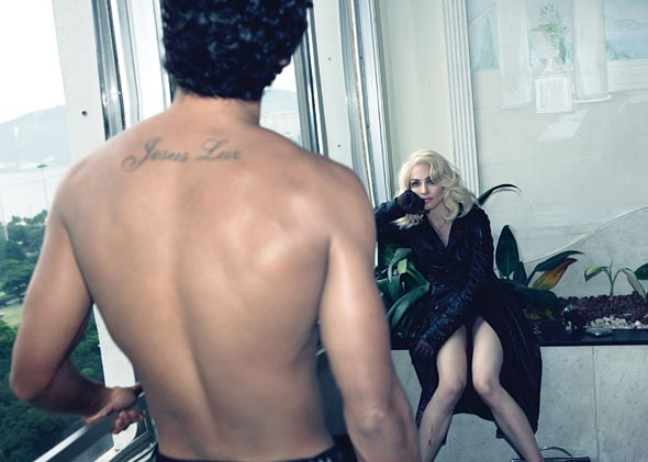 Jesus & Madonna.  Photo: W.Magazine