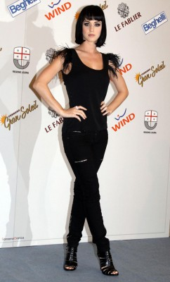 Katy Perry Attends San Remo Song Festival.  Photo: Splashnewonline.com