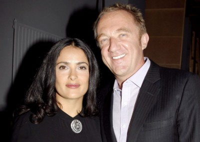 Francois-Henri Pinault & Salma Hayek Married on Valentine's Day.  Photo: Fame Pictures