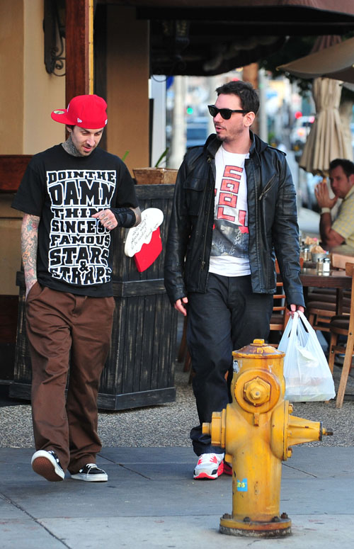 Travis Barker & DJ AM Spotted Yesterday Having Lunch Photo: Bauergriffen.com