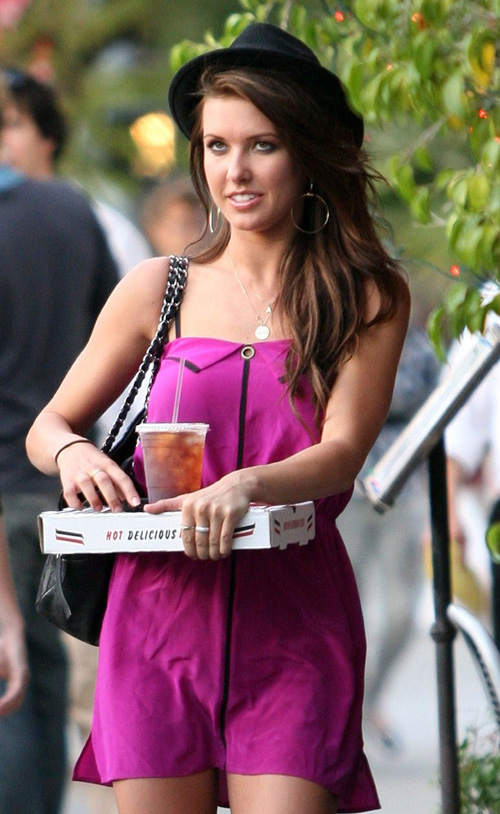 Audrina Patridge Over The Weekend Shooting The Hills. Photo: Famepictures.com