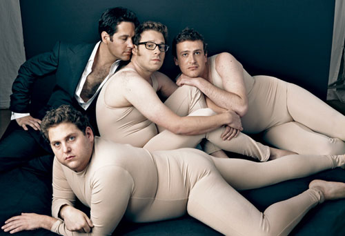 Jonah Hill, Paul Rudd, Seth Rogen, Jason Segel / Annie Liebovitz, Vanity Fair
