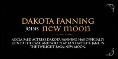 Dakota Fanning Joins New Moon.  Summit Entertainment