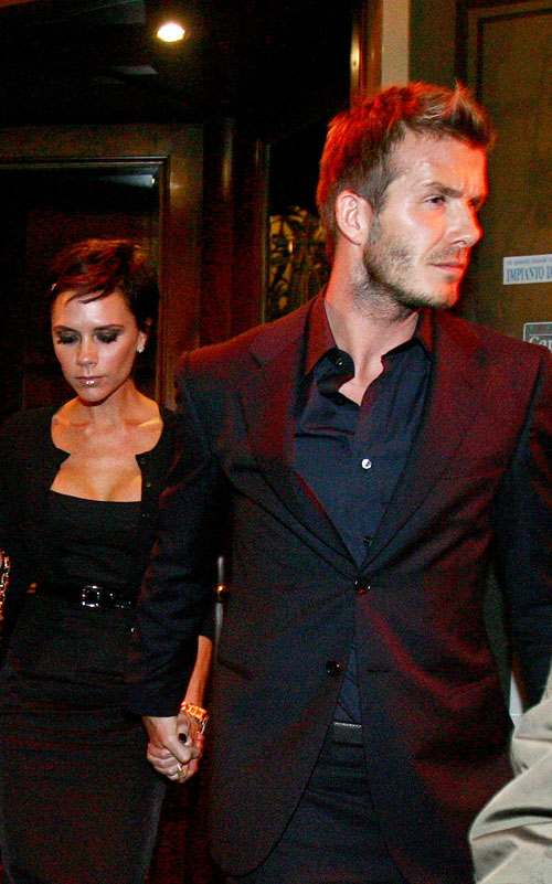 Victoria & David Beckham In Milan Italy.  Photo: INFDaily.com
