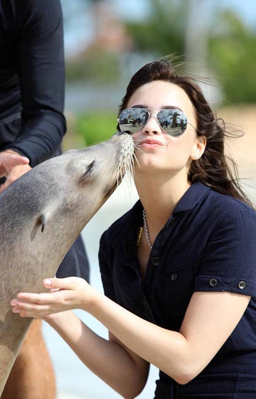 Demi Lovato In The Bahamas.  Photo: AP
