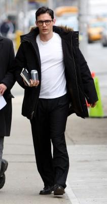 James Franco On Set Of 'Howl'  Photo: Splashnewsonline.com