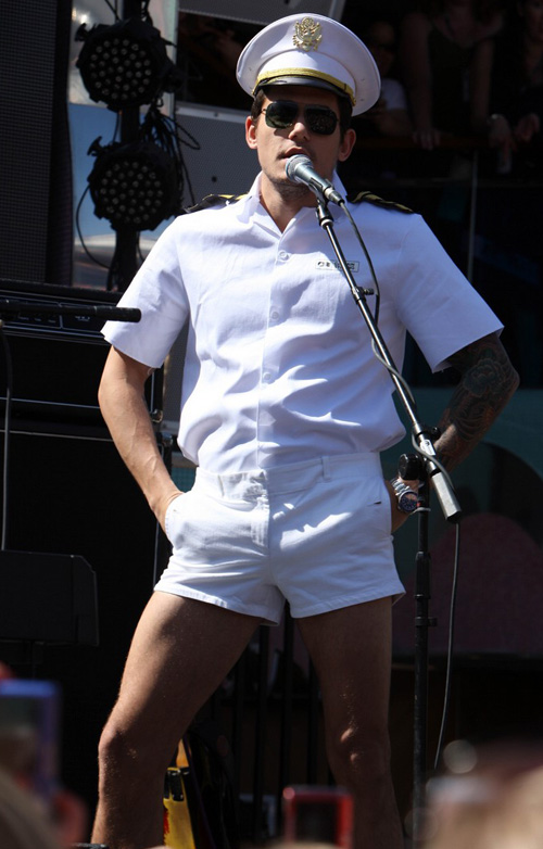 John Mayer The Sailor.  Photo: Splashnewsonline.com
