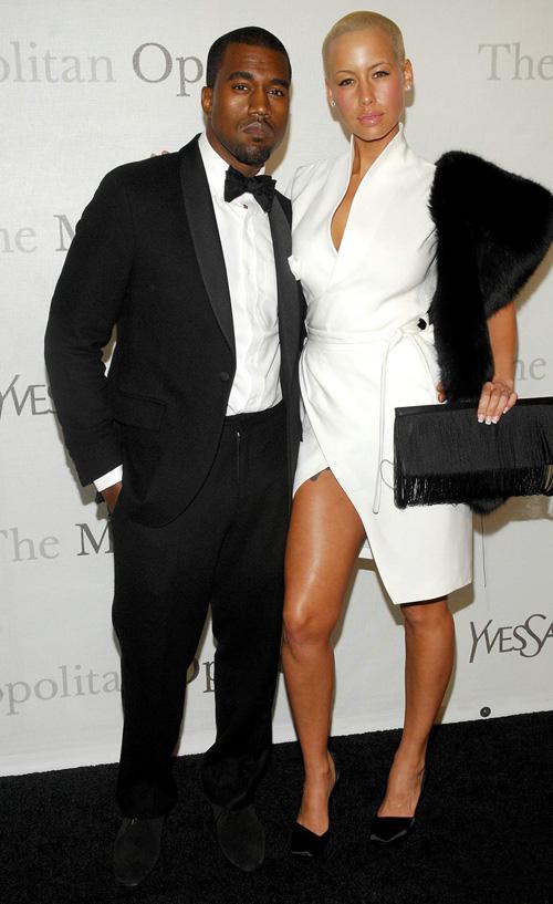 Kanye West & Amber Rose.  Photo: Wireimage.com