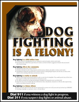Dogfighting is a Felony www.chicagoist.com