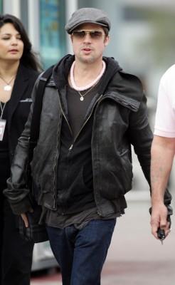 Brad Pitt Arrives In France.  Photo: splashnewsonline.com