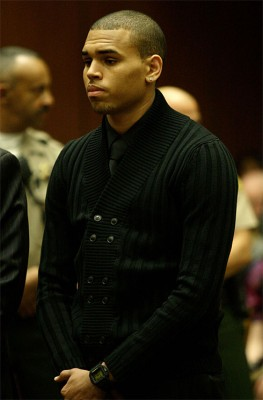 Chris Brown In Court April 6th, 2009.  Photo: Gettyimages.com