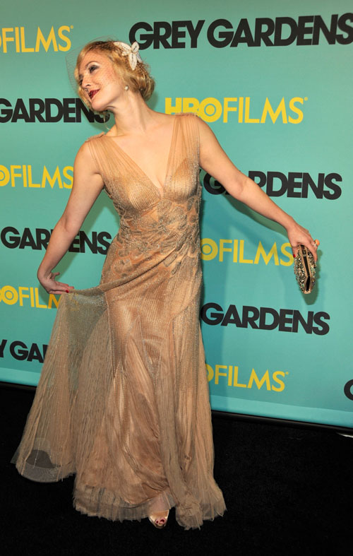 "Drew Barrymore At  ""Grey Gardens"" Premiere.  Photo: Wireimage.com"