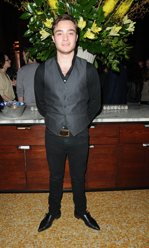 Ed Westwick At The Premiere Party For Is Anybody There?  Photo: splashnewsonline.com