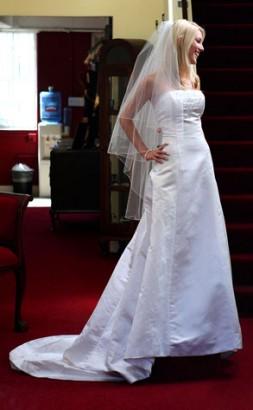 Heidi Montag In Her Wedding Dress.  Photo: Andy Johnstone/Brett Thompsett/PacificCoastNews.com