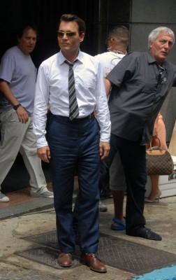 Johnny Depp On The Set In Puerto Rico.  Photo: Splashnewsonline.com