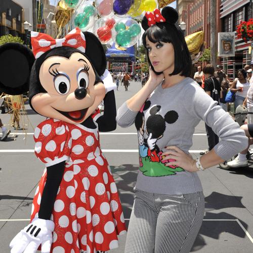 Katy Perry & Minnie Mouse.  Photo: Disney Photos