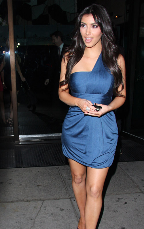 Kim Kardashian Leaving Mr. Chow's.  Photo:INFDaily.com