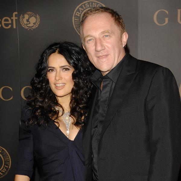 Salma Hayek & Husband François-Henri Pinault.  File Photo
