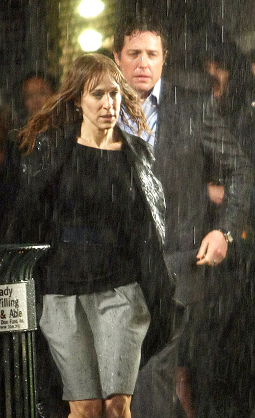 Sarah Jessica Parker & Hugh Grant Filming New Movie.  Photo: splashnewsonline.com