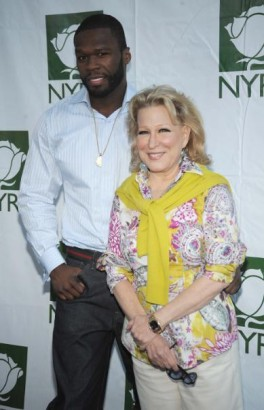 Midler and 50 Cent Getty Image