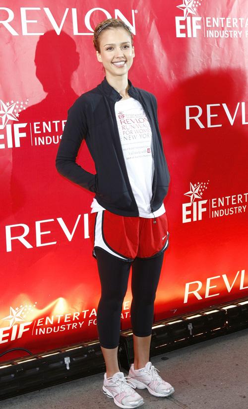 Jessica Alba At Revlon Run/Walk For Woman.  Photo: Splashnewsonline.com