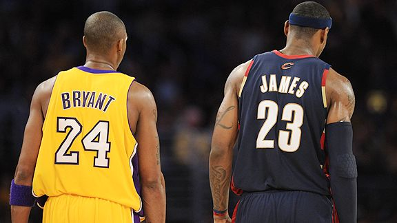 Kobe Bryant & LeBron James.  File Photo