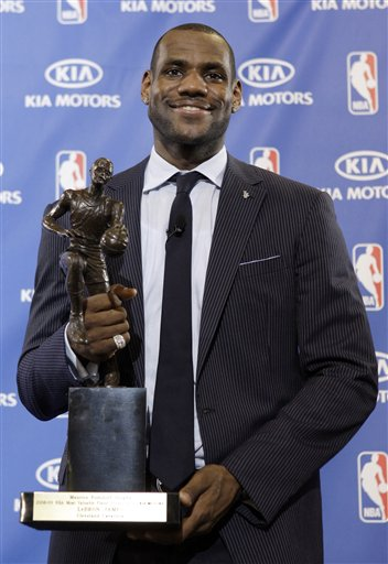 Lebron James Wins NBA MVP.  Photo: AP Photo/Amy Sancetta