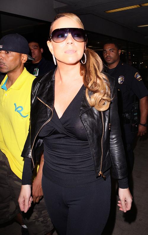 Mariah Carey & Her Lambs.  Photo:  Splashnewsonline.com