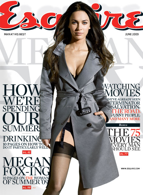 Megan Fox Esquire Cover.  Photo: Esquire Magazine