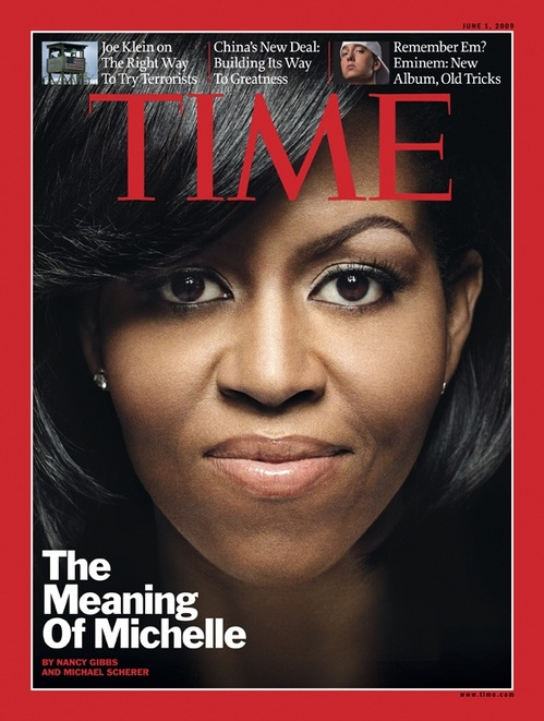 Michelle Obama On Time.  Photo:  Time Magazine.