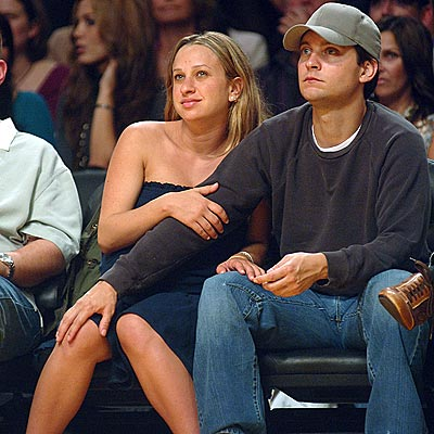 Tobey Mcguire & Wife.  File Photo