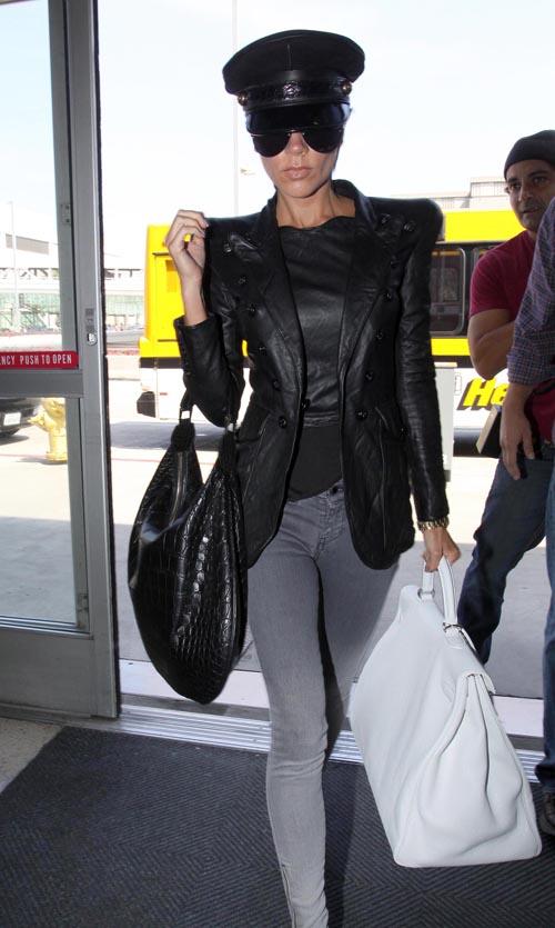 Victoria Beckham Leaving LAX  Photo: Flynetonline.com
