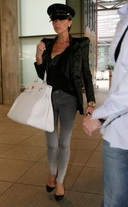 Victoria Beckham & That Hat.  Photo: Bauergriffen.com