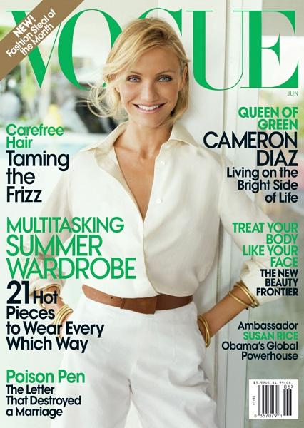 Cameron Diaz June 09 Courtesy of Vogue Magazine