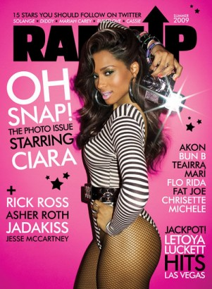 Ciara On Cover Of Rap Up.  Photo: Rap Up