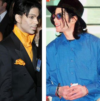 Prince & Michael Jackson.  Photo: MSN.Com