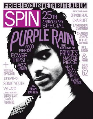 Spin Covers Prince's Purple Rain. Photo: Spin.com