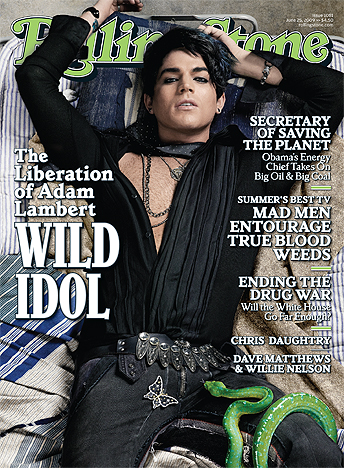 Adam Lambert On The Rolling Stone Cover.  Photo: Matthew Rolston/Rollingstone.com