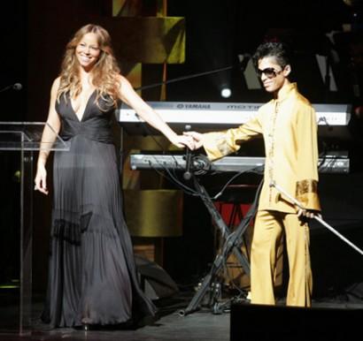 Mariah Carey & Prince.  Photo:  Spellman/Killian