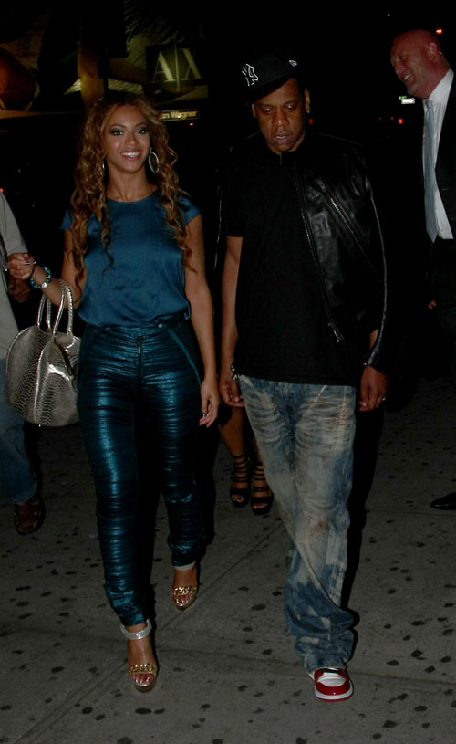Beyonce Knowles &  Jay-Z be Clubbing.  Photo: INFDaily.com