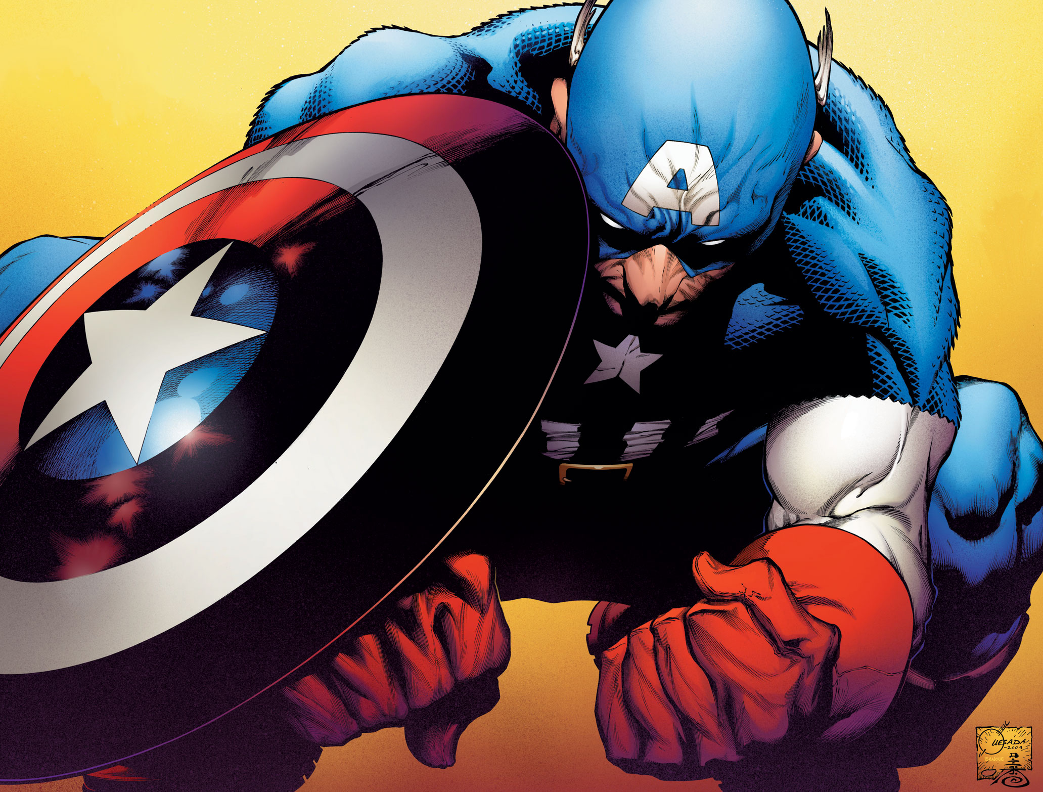 Captain America: Reborn Cover Art By Joe Quesada