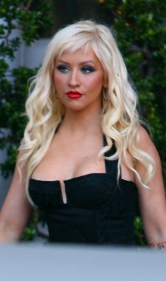 Christina Aguilera In Beverly Hills.  Photo: Famepictures.com