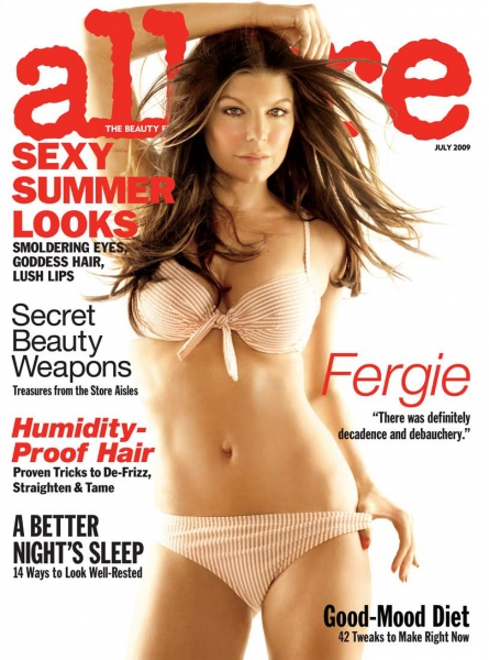 Fergie On The Cover Of Allure.  Photo: Allure.com