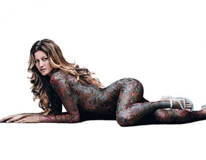 Gisele Gets Tatooed.  Photo: Photomagazine