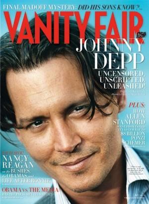 Johnny Depp Vanity Fair Cover.  Photo: VF.com