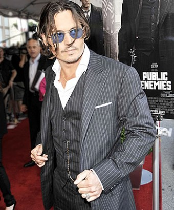 Johnny Depp Attends Public Enemy Chicago Premiere.  Photo: Kevin Winter / Getty Images