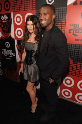 Kanye and Fergie Black Eye Pea's GettyImage