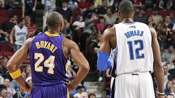 Kobe Bryant & Dwight Howard.  Photo: Espn.com